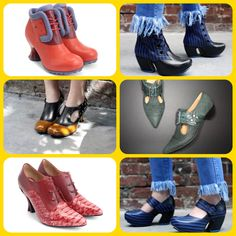 Online Shoes selling John Fluevog shoes and boots for women and men. John Fluevog Shoes, Low Heels, Shoes Online, Rubber Rain Boots, Stylists, Footwear, Elegant, Leather, How To Wear