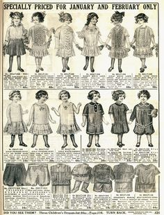 1914 Clothing | 1914 Sears Household Catalogue
