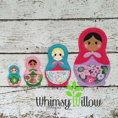 Russing Nesting Doll Set ITH Embroidery Design by WhimsyWillowEmb