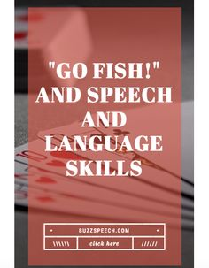 Speech and Language Skills to target while playing Go Fish!