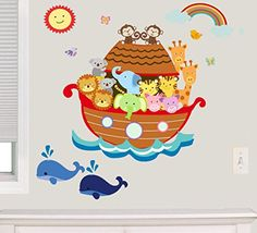 Noah's Ark Fabric Wall Decal, Animal Decals 100% Woven Fabric Decal, UL Greenguard Certified Nursery, Kids Room Decor Great Gift (Brown) Decal the Walls http://www.amazon.com/dp/B00MI5EV14/ref=cm_sw_r_pi_dp_JyIWvb1RX075M