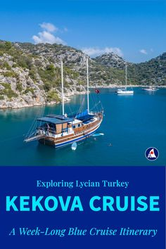 Need inspiration for planning a week-long itinerary along Turkey's Turquoise coast? Here's a route to Kekova that appeals to guests of all ages, and balances time for relaxation with time for adventure. There are plenty of opportunities to get off the boat and explore charming coastal towns and historic sites along Turkey's Lycian Coast. Sunken City, Castle Ruins, Fresh Water Tank, Best Cruise, Snorkelling, Open Water, Small Island, Cruises, Historical Sites