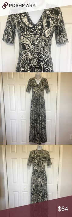 Agnes and Dora Austen maxi dress #260 Agnes and Dora Austen dress. I used to be an A&D rep. These dresses are stretchy and very comfortable. Dress them up or down. Have pockets, and an elastic high waist for a flattering fit. Sleeve is to the elbow on most. This dress is floor length and may require hemming. Measurements taken flat and in inches. Shoulder to shoulder  141/4. sleeve  11. Armpit to armpit 161/2. High waist 131/4.  waist to hem 431/2. Colors: black and white. Agnes & Dora…