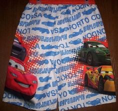 Trunks have Lightning McQueen and other characters on them. I have other styles and sizes listed. Disney Boys, Disney Mickey Mouse, Disney Pixar, Cars 2 Movie, Boys Swim Trunks, Boy Character, Disney Frozen Elsa, Car Colors, Lightning Mcqueen