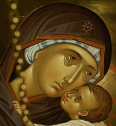 Hagiography, Mythology Art, Byzantine Art, Mother And Child Painting, Christ Nativity, Illuminated Manuscript, Orthodox Christian Icons, Art, Angel Art