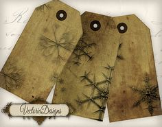Grunge Snowflake tags instant download by VectoriaDesigns on Etsy, $3.65