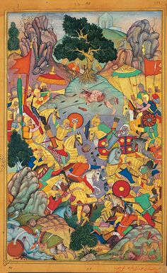 Exhibition of Persian miniature paintings organized in 2005 by the Tehran Museum…
