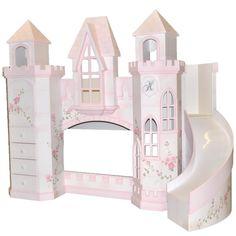 Pretty Girl Bedroom Decor Ideas With Princess Castle Bed Design - Princess Castle Bed, Princess Bedrooms, Pink Castle, Kids Bedroom Sets, Girls Bedroom, Kids Rooms, Bedroom Themes, Bedroom Ideas, Bedroom Decor