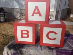 Coloring Pages Of Abc Blocks : Big wooden or abc block photo props kids by