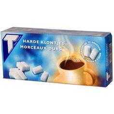 Tiense suiker. Deze klontjes worden in Tienen gemaakt. Brussel, Land, Belgium