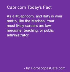 Capricorn Daily Fun Fact | Haha this is funny, I know that one of my teachers is a Capricorn