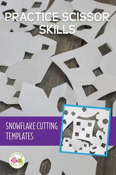 Making paper snowflakes is much easier for young kids, when you use snowflake cutting templates or patterns. It's a perfect way to work on scissor skills. Kids Educational Crafts, Science Crafts, Educational Websites, Preschool Crafts, Making Paper Snowflakes, How To Make Snowflakes, Snow Theme, Winter Theme, Winter Activities For Kids