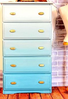 ombre dresser technique, chalk paint, how to, painted furniture