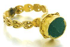 Byzantine, 7th century, finger ring.