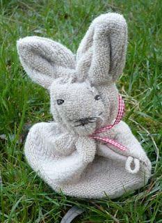 een washandje wordt een konijn