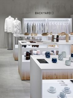 BACKYARD is a minimalist interior located in Tokyo, Japan, designed by Nendo. The shop design for by   n, an original brand with all nendo-designed products located in the Seibu Sogo department stores in Tokyo's Ikebukuro and Shibuya, and in the Yokohama Sogo department store. (6)