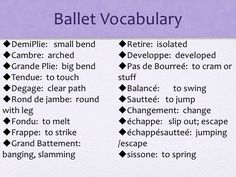 all ballet moves and positions with the names and pictures - Google Search