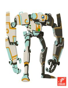 Digging this concept 'bot from Atomic Jack Games!