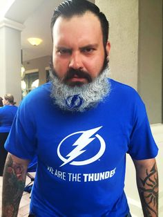 One of the biggest fans in Channelside! Stanley Cup Finals, Tampa Bay Lightning, Hockey, Fans, Hoodies, Sweaters, Fashion, Moda, Sweatshirts