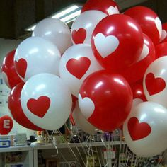 12Pcs 12 Inch Thicken Latex Balloon Heart Printing Wedding Party Decoration