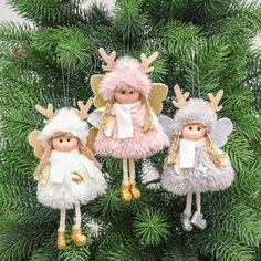Christmas Crafts For Kids To Make, Christmas Bows, Christmas Angels, Xmas Tree, Christmas Tree Decorations, Christmas Tree Ornaments, Handmade Angels, Baby Fairy, Boy Doll