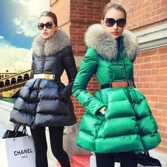 Cheap outerwear, Buy Quality outerwear womens directly from China outerwear coat Suppliers: 2017 Promotion Time-limited Long Sleeve Prase Women's Fashion Swandown Thin Fur Collar Down Coat Medium-long Female Outerwear Fur Fashion, Women's Fashion Dresses, Winter Fashion, Womens Fashion, Fashion 2016, Fur Collar Coat, Fur Collars, Coats For Women, Jackets For Women
