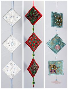 https://flic.kr/p/6Xw2iN | Inchie Ornaments | See the Inchie Ornaments Tutorial here. Join the Christmas Swap--Inchie Ornaments here.