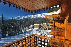 The Khyber Himalayan Resort & Spa, Gulmarg is within walking distance of the Gulmarg gondolas, or ski lifts, and has signposted trails to lead you back down to the property from the mountaintop. What makes the opening of the Khyber even more exciting is that it is the first hotel in Jammu & Kashmir to be built completely from scratch in the last 20 years. room no.2017 has the best views