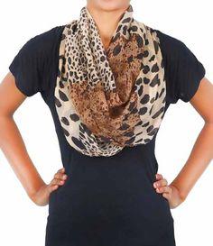 Stylehoops Brown Animal Print Scarf #scarf #animalprint