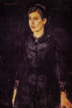 Edvard Munch - Sister Inger, 1884 at National Gallery Oslo Norway