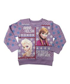 This Lilac Anna & Elsa Sweater Tee - Toddler is perfect! #zulilyfinds