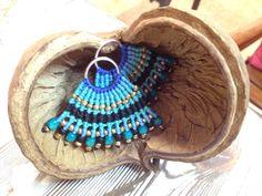 Micro macrame fan earrings summer collection