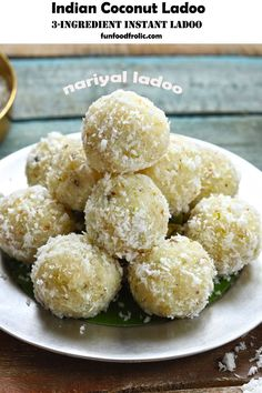 Indian Coconut Laddo