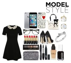 """""""Nobody's watching"""" by star-mannings on Polyvore featuring George, Jimmy Choo, Topshop, Lancôme, Forever 21, L'Oréal Paris, Essie, Kate Spade, women's clothing and women"""