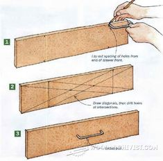 Drawer pull layout Announcing: The World's Largest Collection of 16.000 Woodworking Plans! http://tedswoodworking-today.blogspot.com?prod=NUGiaawT #woodworkingtools
