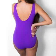 7a40437c8 Maiô Plus Size para hidroginástica ou natação bicolor com zíper frontal
