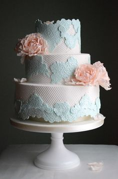 romantic pastels & lace - Sugar Realm, Fine Bakery & Cake Design