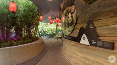 Panda Garden, Zoologischer Garten Berlin, Berlin, Germany by Dan Pearlman Zoo Architecture, Contemporary Architecture, Berlin Berlin, Berlin Germany, Panda Habitat, Chinese Buildings, Zoo Park, Swing And Slide, Construction Cost
