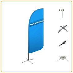 Beach Banner Feather Flag (3.5m)