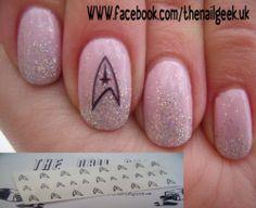 Star trek inspired nail tattoos/ nail decals /nail transfers