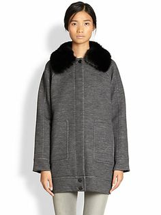 Marc by Marc Jacobs - Gertrude Oversized Stretch-Wool Coat - Saks.com