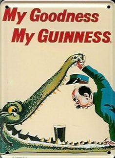 Guinness Croc Beer Sign                                                                                                                                                                                 More