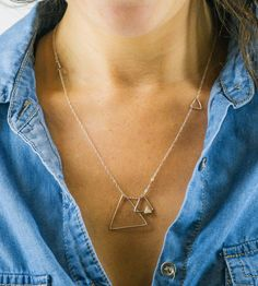 Silver Triangles Necklace by Lara Ismael Jewelry on Scoutmob