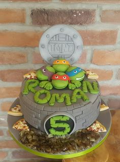Tmnt teenage mutant ninja turtles cake ☺