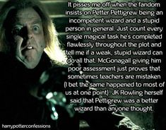 It pisses me off when the fandom insists on Petter Pettigrew being an incompetent wizard and a stupid person in general. Peter Pettigrew, Pissed, Happy Endings, Your Story, Confessions, Harry Potter, Fandoms, Movies, Films