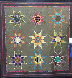 Feathered Star by Lisa Curnutt. 1st place, Novelty Custom.  2015 HMQS Salt Lake City. Photo by Sew Fun 2 Quilt.