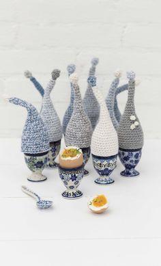 eierdopjes-web Crochet Egg Cozy, Easter Crochet, Crochet Toys, Free Crochet, Knit Crochet, Stitch Patterns, Knitting Patterns, Crochet Patterns, Yarn Organization