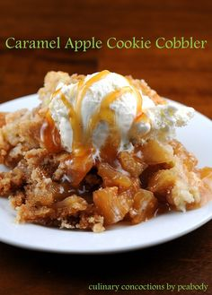 Caramel Apple Cookie Cobbler by Culinary Concoctions by Peabody