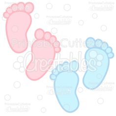 Baby Footprints Free SVG Cuts & Clipart - SVG Free scrapbook cut files for Silhouette, Cricut cutting machine. Free baby footprints cut file, cute clipart