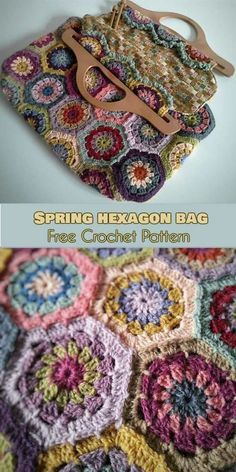 This has to bee the most hippy-trippy #crochet bag on the web! Hexagonal panels are stitched together to make a stylish and useful bag that will blow everyone away with is a symphony of colors. It's perfect for spring! Link to the free pattern is below. Spring Hexagons Bag – Free Crochet Pattern is >>here< .